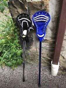 Lacrosse sticks and ball