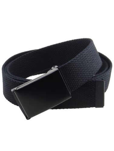 New Flip Top Adjustable Web Canvas Black Belt Buckle For Military 44