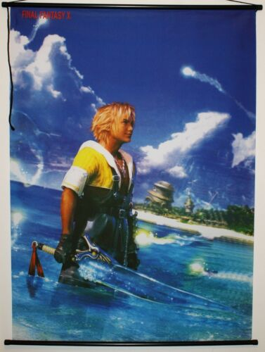 Final Fantasy X Anime Poster TIDUS Cloth Wall Scroll 31 x 42 Inches