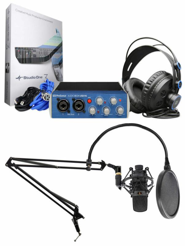 Presonus Gaming Streaming Twitch Bundle w/Interface+Mic+Headphones+Boom Arm