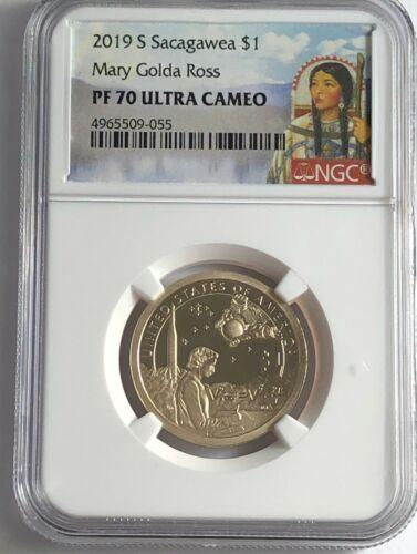 2019 S $1 NGC PF70 PROOF NATIVE SACAGAWEA MARY GOLDA ROSS DOLLAR ULTRA CAMEO