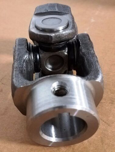 """U-JOINT FORGED 1"""" ID ONE END 1-1/4"""" ID OTHER END  KEYWAY AND TAPPED FOR SET SCRE"""