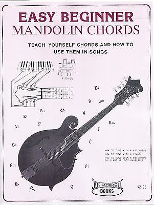 Easy Beginner Mandolin Chords Instructional and Song Book