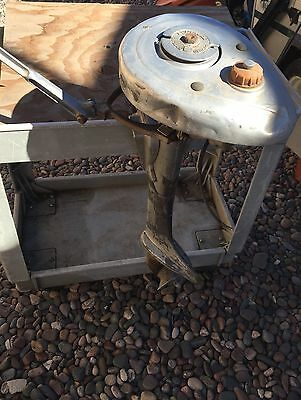 Rare Antique 40's EVINRUDE ELTO Small Outboard Boat Gas Motor Patented in  1935