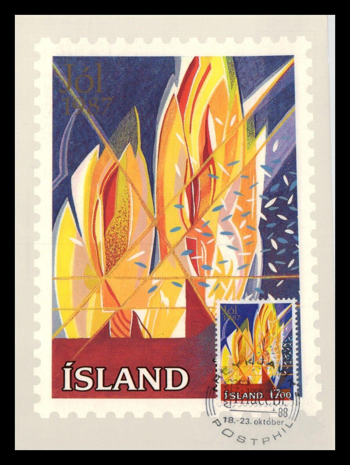 iceland 1987 fdc christmas stamps vii christmas light