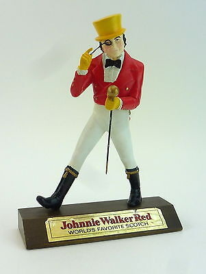 "Johnnie Walker Red Statue Striding Man 13"" Tall Bar Figurine Monocle Scotch Vtg"