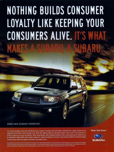 2006 Subaru Forester XT Original Magazine Advertisement