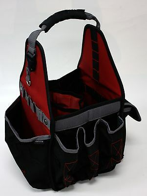 Electricians Tool Bag With Plastic Connectors Tray Durable Pouch Heavy Duty