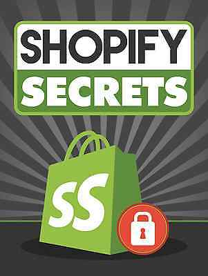 Learn The Secrets Of Running Your Own Shopify Store  78 Page Ebook On Cd