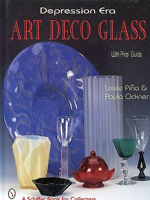 Depression Era Art Deco Glass - Types Makers / Illustrated Book + Values