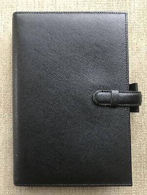 Filofax Portobello Personal Organizer In Black Leather New Includes Inserts