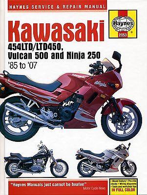 2053 Haynes Kawasaki 454LTD/LTD450, Vulcan 500 & Ninja 250 (1985 - 2007) Manual