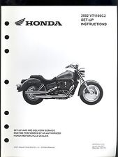 2002 HONDA VT1100C2 MOTORCYCLE SET UP & PRE-DELIVERY