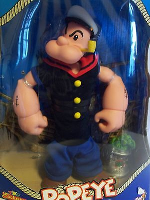 Popeye the Sailor Man Doll  Mezco Spinach Package 2001 TRU Exclusive Toy