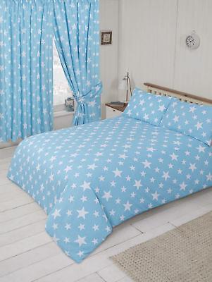 Baby Blau und Weiß Sterne Kinderbett Bettwäsche Set Sterne Thema ()