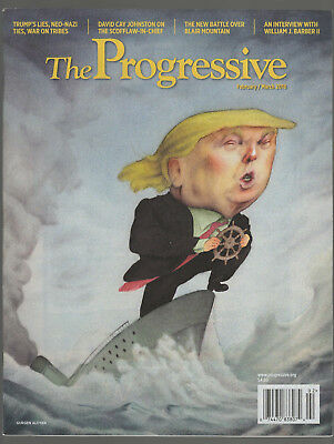DONALD TRUMP STEERING THE TITANIC THE PROGRESSIVE MAGAZINE NEWSSTAND EDITION