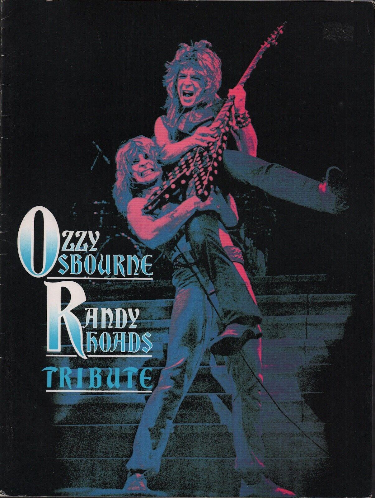 OZZY OSBOURNE / RANDY RHOADS 1987 TRIBUTE TOUR PROGRAM BOOK BOOKLET / EX 2 NMT