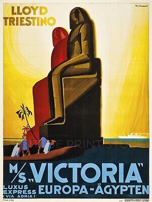 Victoria Europa 1931 Vintage Travel Advertising Giclee Canvas Print 20x27