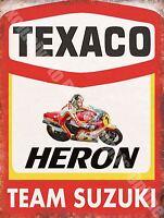 Garaje,49 Texaco Heron Moto Barry Sheen Carrera Equipo,medio Metal/ - texaco - ebay.es