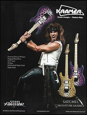 Steel Panther Satchel Signature Kramer Pacer Vintage leopard print guitar ad