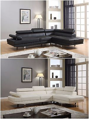 The Room Style Atlantic Faux Leather Sectional Functional Armrest Sofa Set