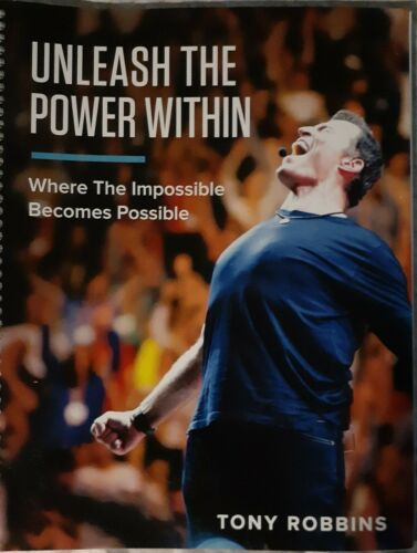 Unleash the Power within Tony Robbins manual.  Shipping fee includes insurance.