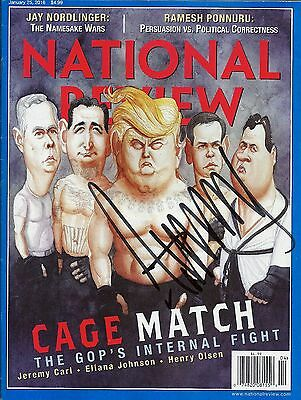 PRESIDENT DONALD J. TRUMP SIGNED NATIONAL REVIEW MAGAZINE COA PROOF JSA AUTH LOA