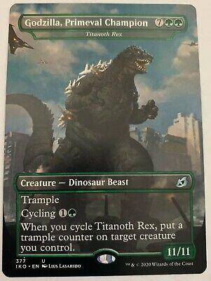 Godzilla, Primeval Champion (Showcase) - Ikoria - MTG - Pack Fresh - NM/M