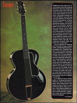 1922 Lloyd Loar Gibson L-5 Grand Concert vintage guitar 1994 history article