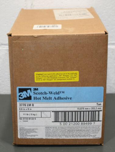"3M Scotch-Weld Hot Melt Adhesive 3776 LM Q, Tan Glue Stick, 5/8"" x 8"", 11 lbs"