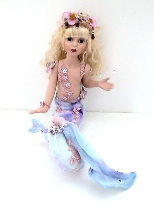 Fantasy Mermaid Princess Porcelain Doll With Stuffed Cloth Tail Show Stoppers?