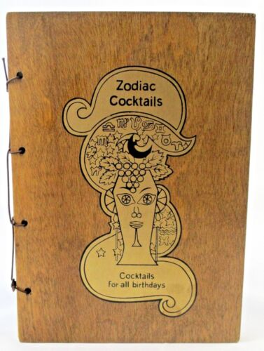 Vintage ZODIAC COCKTAILS Cocktails for All Birthdays Drink Mixology 1968 Book