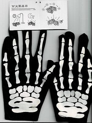 1 Paar Skelett-Handschuhe im Dunkeln leuchtend Klein für - Skelett Handschuhe Für Kinder