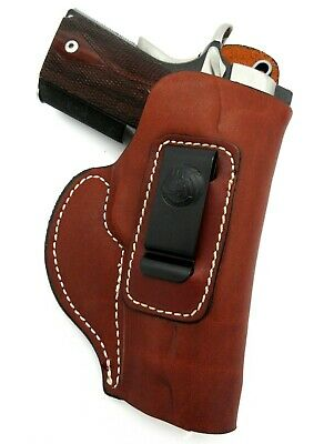 Right Hand Brown Leather IWB Inside Pants Holster for KIMBER PRO CARRY II (Iwb Holster For Kimber Pro Carry Ii)