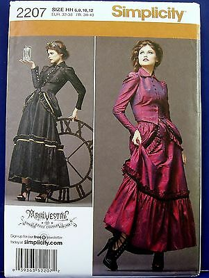 Top 10 Halloween Costumes Adults (Simplicity Victorian Skirt Top Halloween Costume Sewing Pattern 6,8,10,12)