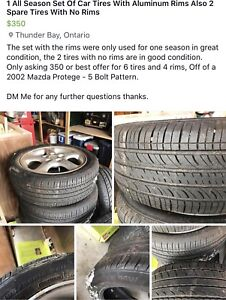 All Season Tires Forsale (Details in pictures)