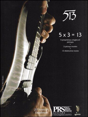 PRS 513 model electric guitar series ad 2005 advertisement 8 x 11 print