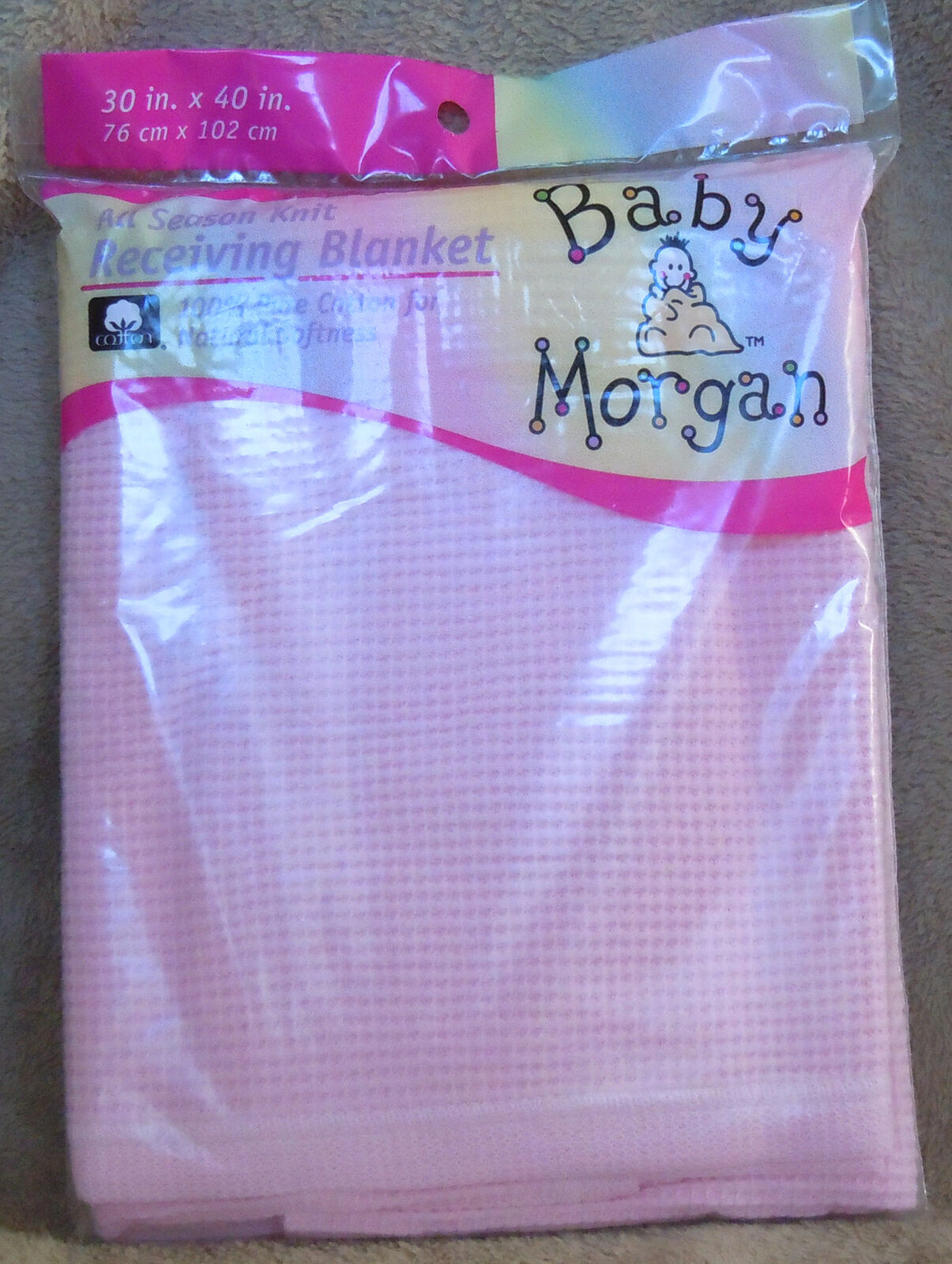 Baby Morgan Pink Receiving Blanket