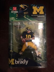 Tom Brady rare Michigan Wolverines mcfarlane figure