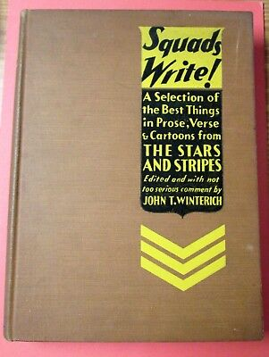 SQUADS WRITE! Selections from Stars & Stripes 1st Ed 1931