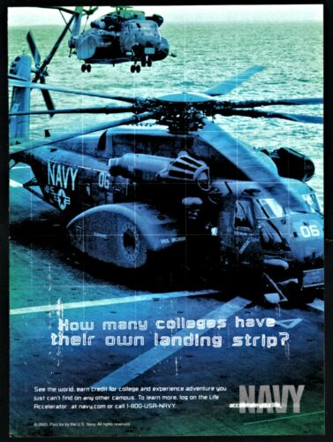 2003 U.S. NAVY USN Recruiting AD CH-53E Super Stallion Helicopter on Carrier