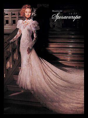 1988 Demetrios Sposaeuropa Wedding Dress Vintage PRINT IMAGES Marriage Bride 80s