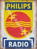 Philips Radio,146 Electrónica Retro Vintage Publicidad,grande De Metal/ - philips - ebay.es