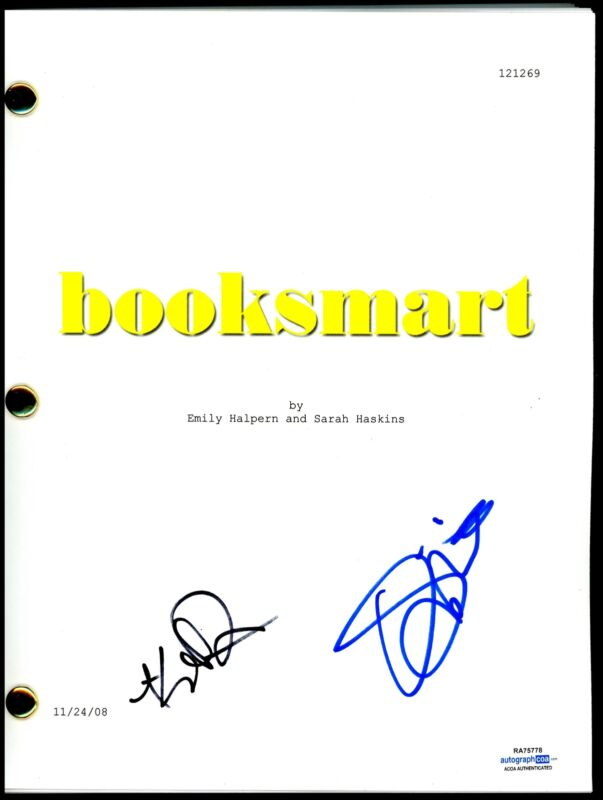 "Olivia Wilde & Kaitlyn Dever ""Booksmart"" AUTOGRAPHS Signed Script Screenplay"