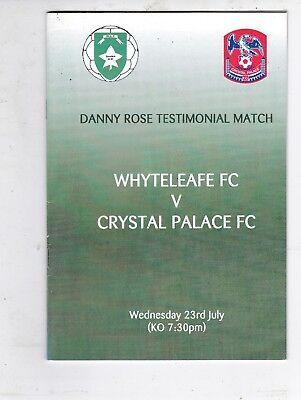 WHYTELEAFE V CRYSTAL PALACE DANNY ROSE TESTIMONIAL 23/7/2003