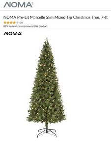WANTED: NOMA Pre-Lit Marcelle Slim Mixed Tip Tree, 7-ft