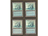4 Snow-Covered Plains ~ Moderately Played Ice Age 4x x4 Playset UltimateMTG Magi