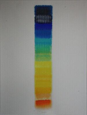 Sommer Gerahmt (Heinz Mack ZERO Sommertag museales Kunstwerk groß und farbintensiv gerahmt)
