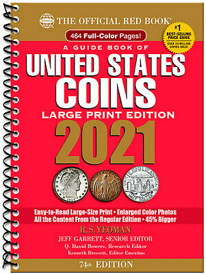 Whitman's Official Red Book of US Coins 2021 (Spiral) LARGE PRINT CATALOG