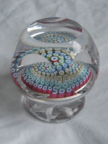 Whitefriars pedestal Millefiori glass collectable rare paperweight 1978
